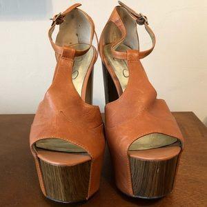 26ad8257ede Jessica Simpson Shoes - Jessica Simpson Dany Tan Platform size 38